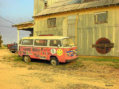Photograph - Old Volkswagen - Magic Bus by Rebecca Korpita