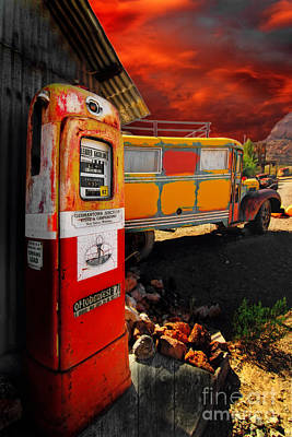 Magic Bus Ride Art Print by Brenda Giasson