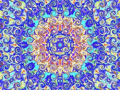 Magic Carpet Ride Blue Art Print by Annette Allman