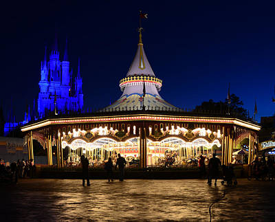 Prince Charming Photograph - Magic Carrousel by David Lee Thompson