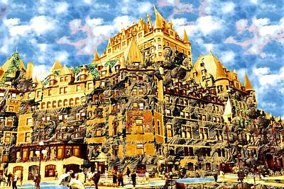 Painting - The Golden Castle - Fantasy Art by Art America Gallery Peter Potter