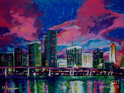 Architecture Painting - Magic City by Maria Arango