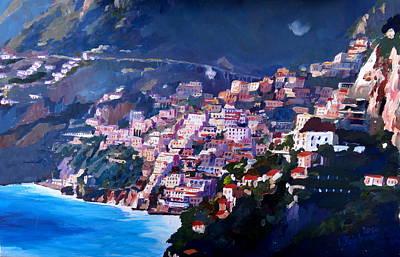 Magic Coastline And Scenery In Amalfi Italia Art Print