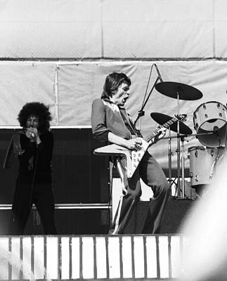 Photograph - Magic Dick And J. Geils In Oakland 1976 by Ben Upham