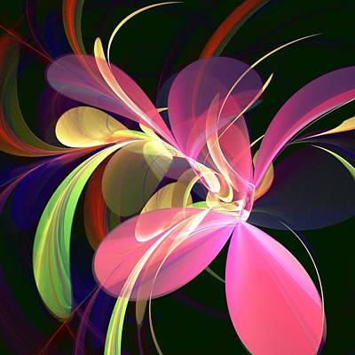Blooming Digital Art - Magic Flower by Anastasiya Malakhova