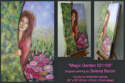 Art Print featuring the painting Magic Garden 021108 Comp by Selena Boron