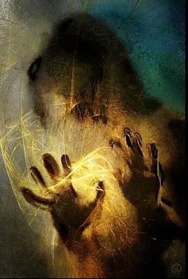 Light Touch Digital Art - Magic Hands by Gun Legler