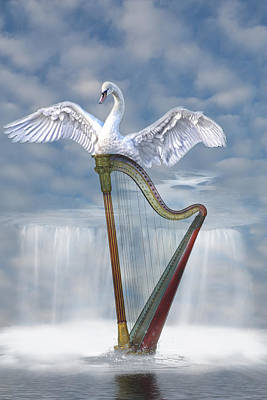 Magic Harp  Art Print by Angel Jesus De la Fuente