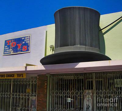 Pomona Art Walk Photograph - Magic Hat Toy Shop by Gregory Dyer