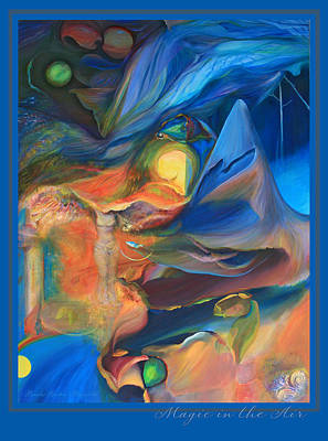 Art Print featuring the painting Magic In The Air - With Border And Title by Brooks Garten Hauschild