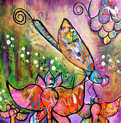 Painting - Magic In The Garden by Kim Heil