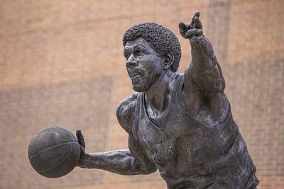 Magic Johnson Photograph - Magic Johnson Statue  by John McGraw