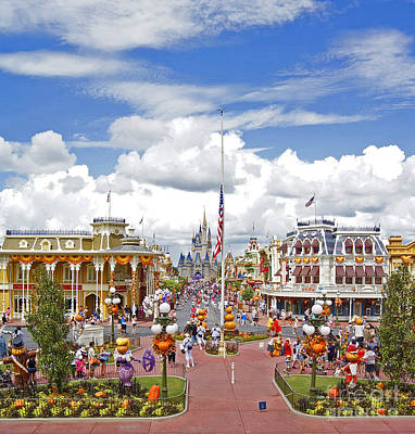 Photograph - Magic Kingdom - Main St. Usa by AK Photography