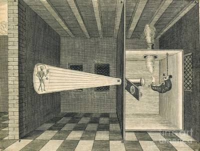 Magic Lantern Photograph - Magic Lantern Display, 17th Century by Science, Industry And Business Library