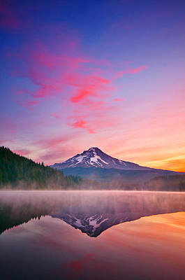Mount Hood Photograph - Magic Morning by Darren  White