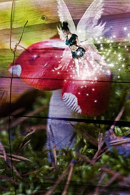 Toadstool Digital Art - Magic Moshroom Fairy  by Nathan Wright