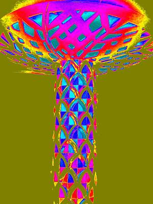 Color Painting - Magic Mushroom Four by Randall Weidner