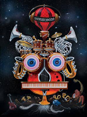 Painting - Magic Music Machine by Richard Mordecki