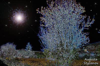 Crescent Moon Digital Art - Magic Night Sky by Augusta Stylianou