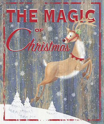 Magic Of Christmas Art Print by P.s. Art Studios