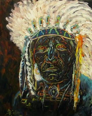 Magic Powers,  Native American Indian Chief Art Print
