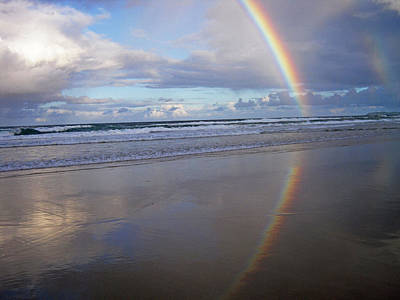 Photograph - Magic Rainbow Arc Beachscape by Ankya Klay