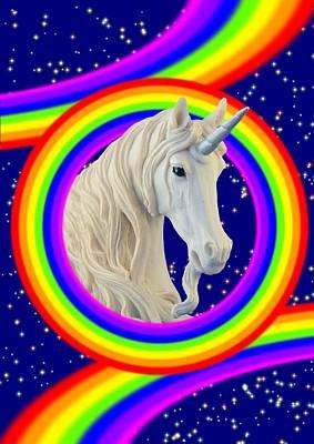 Digital Art - Magic Rainbows by Ed Lukas