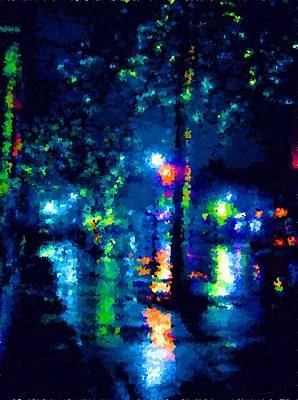 Painting - Magic Rainy Night by Samuel Majcen