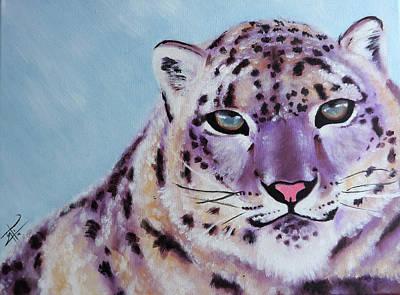 Magic Snow Leopard Art Print by Inti Garcia