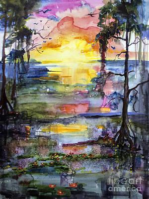 Painting - Magic Sunrise In The Oke Georgia by Ginette Callaway