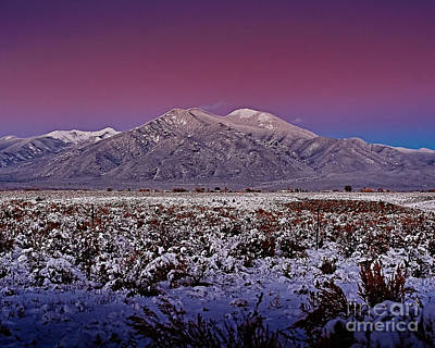 Charles-muhle Royalty-Free and Rights-Managed Images - Magic Taos sunset V by Charles Muhle