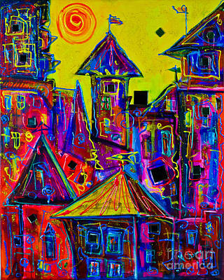 Magic Town 2 Art Print