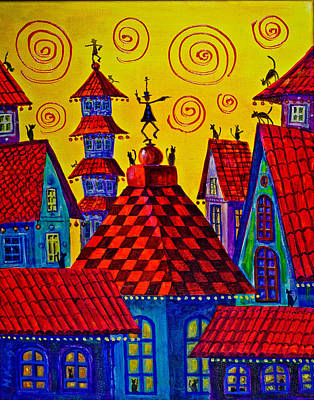 Magic Town 4 Art Print