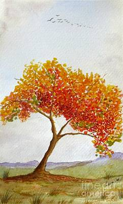 Painting - Lone Tree by Leanne Seymour