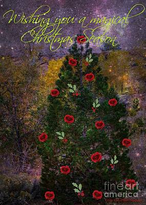 Photograph - Magical Christmas Season Card by Bobbee Rickard