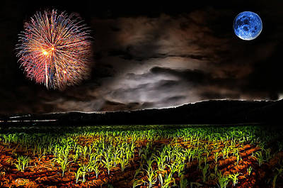 Cornfield Digital Art - Magical Cornfield by Cary Shapiro