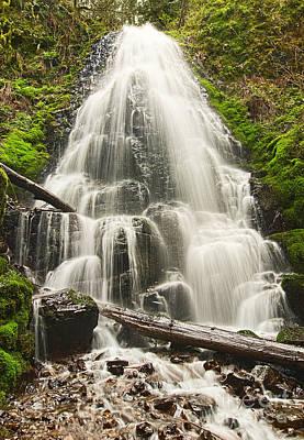 Magical Falls - Fairy Falls In The Columbia River Gorge Area Of Oregon Art Print