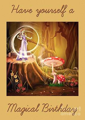 Digital Art - Magical Forest Birthday by JH Designs