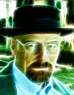 Crystal Meth Painting - Magical Heisenberg by Paul Van Scott