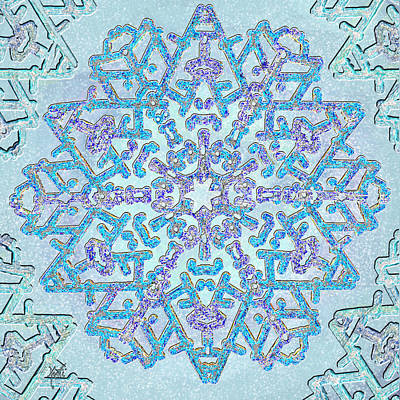 Digital Art - Magical Jewel Snowflake by Michele Avanti
