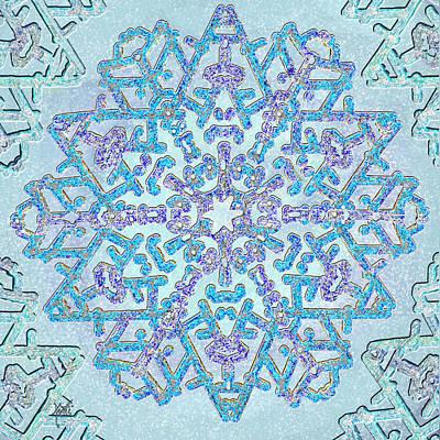 Digital Art - Magical Jewel Snowflake by Michele Avanti