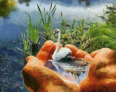 Magical Lake Art Print by Georgi Dimitrov