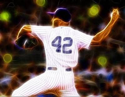 Pitcher Drawing - Magical Mariano Rivera by Paul Van Scott