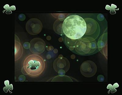 Photograph - Magical Moonlight Clover by LeeAnn McLaneGoetz McLaneGoetzStudioLLCcom