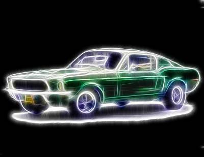 1965 Ford Mustang Painting - Magical Mustang Fastback by Paul Van Scott