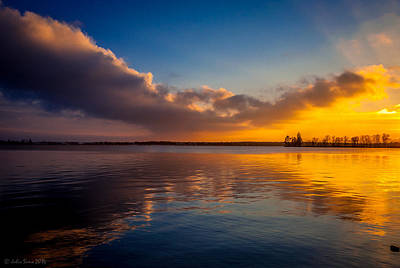 Magical Reflections Of Sundown Art Print