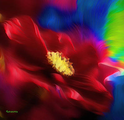 Abstract Realism Painting - Magical Rose by Georgiana Romanovna