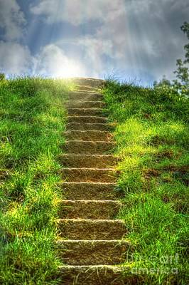Autumn Peggy Franz Photograph - Magical Stairway  by Peggy Franz