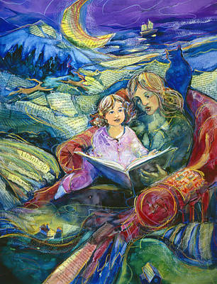 Library Painting - Magical Storybook by Jen Norton