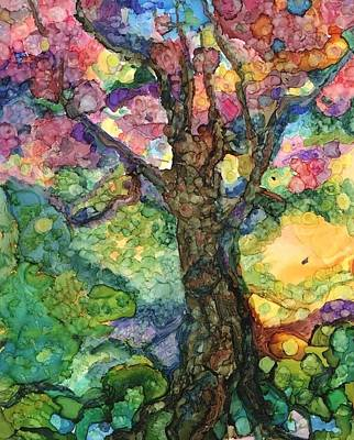 Magical Tree Art Print by Lin Deahl